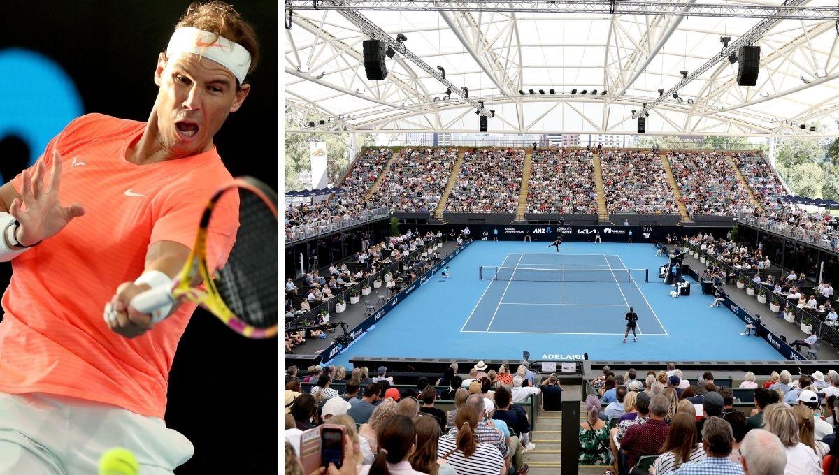 Resultado de imagen para Dominic Thiem y Rafael Nadal en australia con cuatro mil espectadores