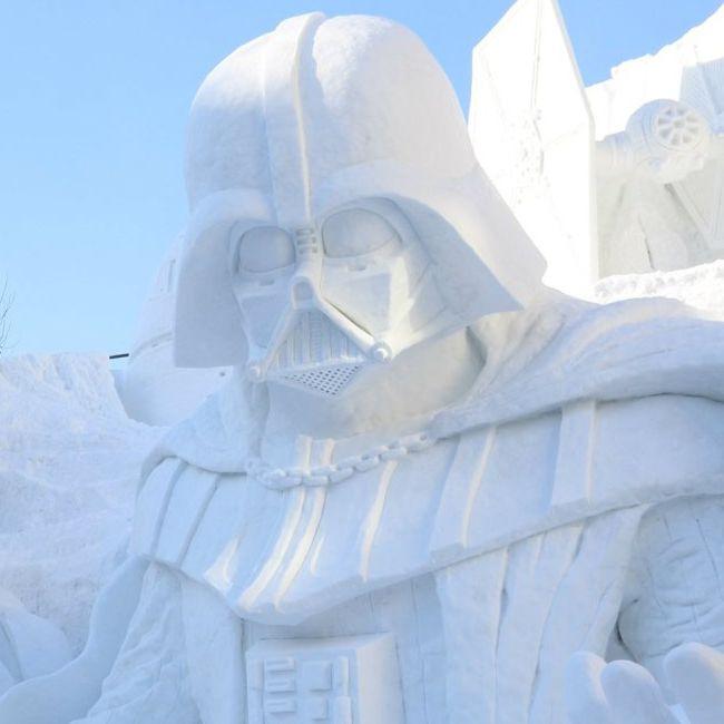 Darth Vader protagoniza la enorme escultura