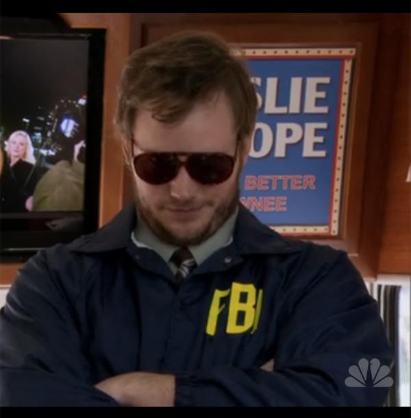 Burt Macklin FBI Chris Pratt Parks and Recreation