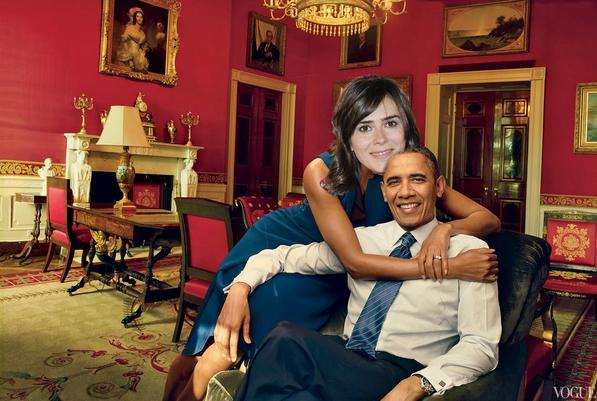 Anna Allen con Obama