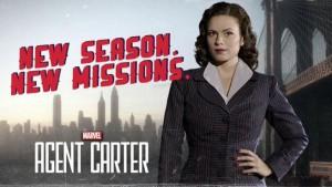 Póster promocional 2ª temporada de Agent Carter.