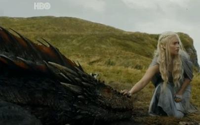 Un Dragón demacrado por unas lanzas...