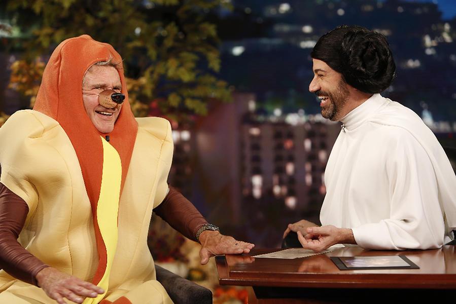 Harrison Ford y Jimmy Kimmel