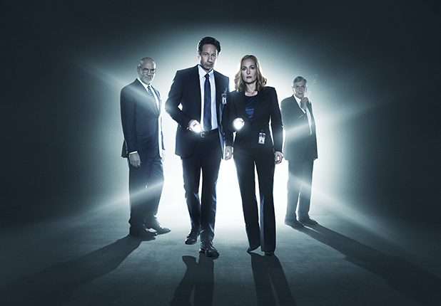 Expediente X Skinner Fumador Mulder Scully