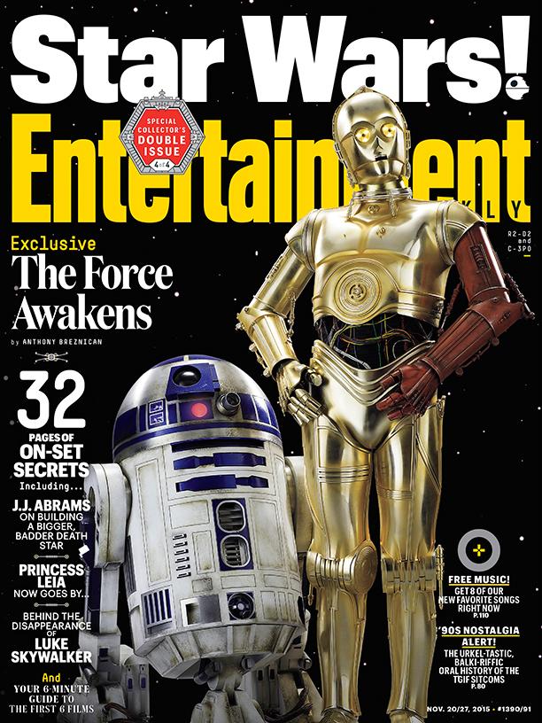 Star Wars VII Poster EW C3P0 R2D2