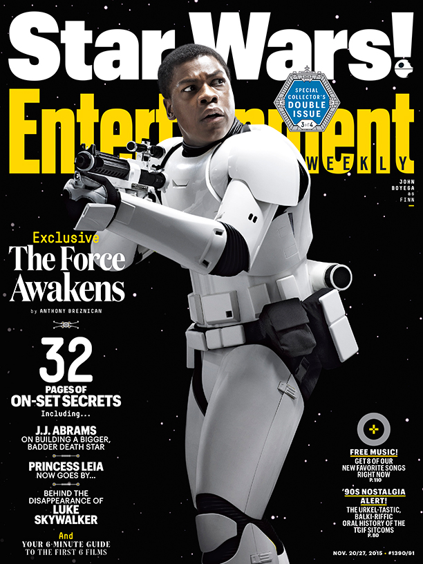 Star Wars VII Poster EW Finn