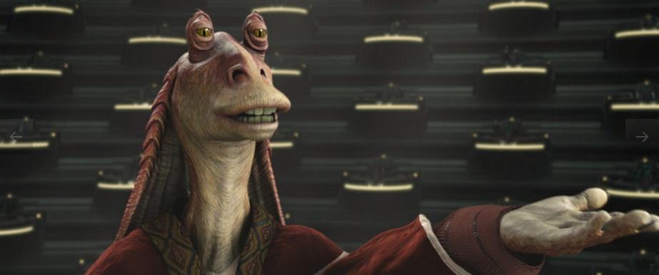 Jar Jar Binks Senador Coruscant Star Wars