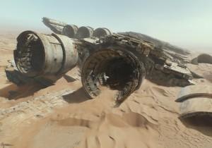 Star Wars VII Destructor Halcón Milenario