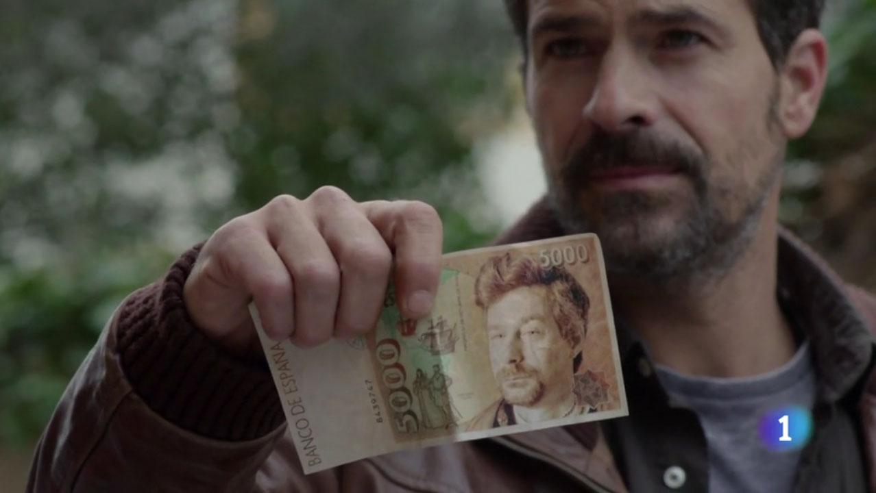 Ministerio del Tiempo 2x11 Billete 5000 pesetas Lombardi Colon