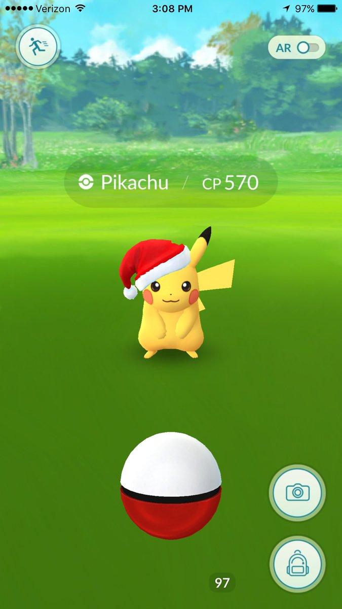Pikachu Christmas Navidad Pokemon Go