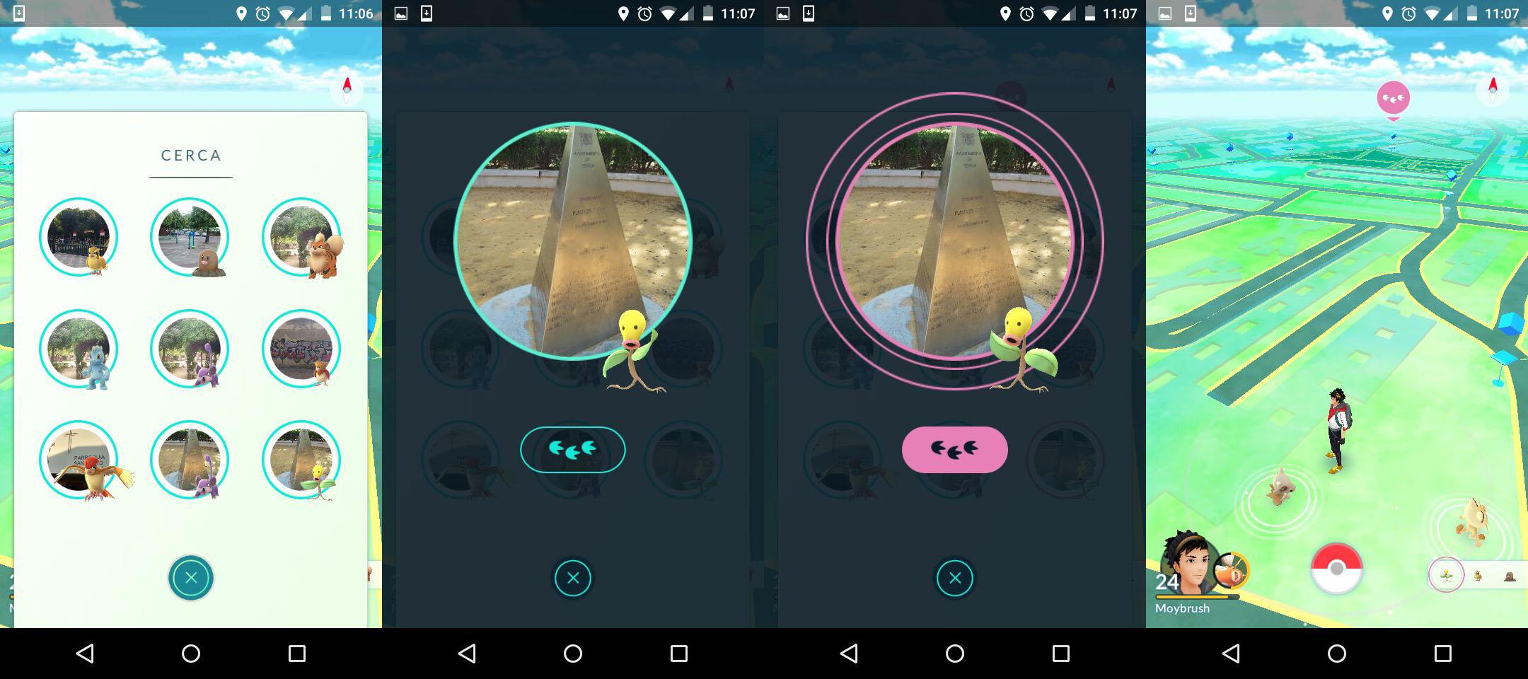 Tracker Pokémon Go Avistamientos