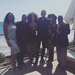 "Reunidos Will Smith y el reparto de ""El Príncipe de Bel Air"""