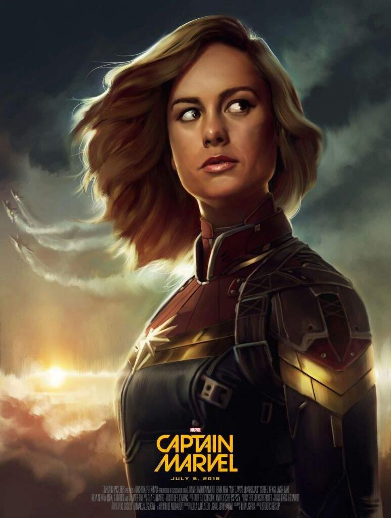 Fanart de Brie Larson como Capitana Marvel