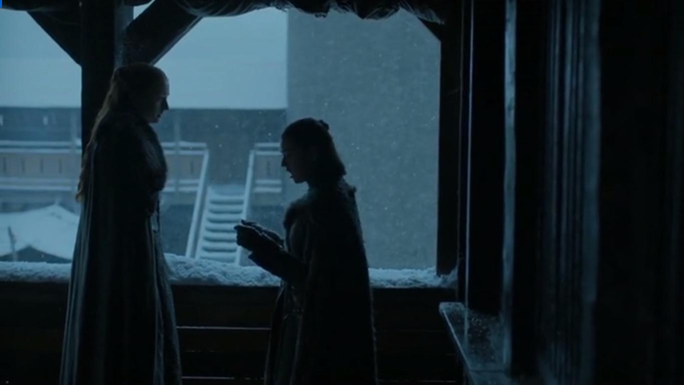 La lectura de la carta supone la escisión entre ambas hermanas