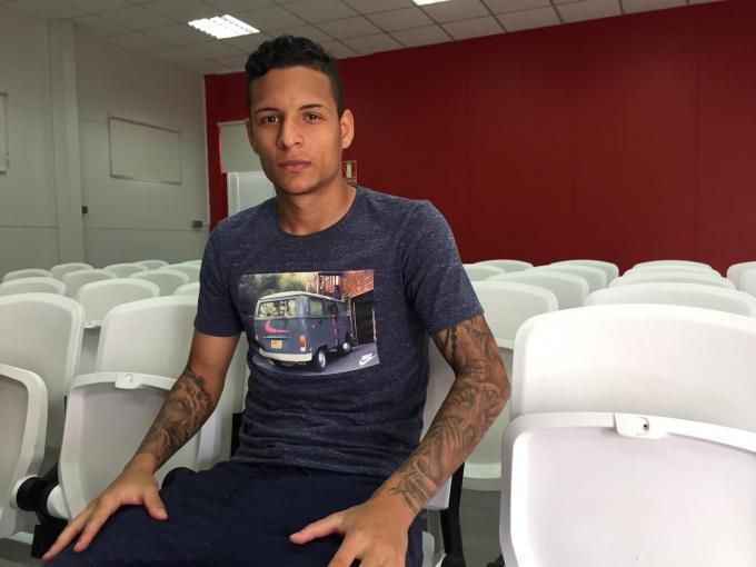 Arana, en su entrevista con ElDesmarque cuando estaba en el Sevilla FC (Foto: Kiko Hurtado).