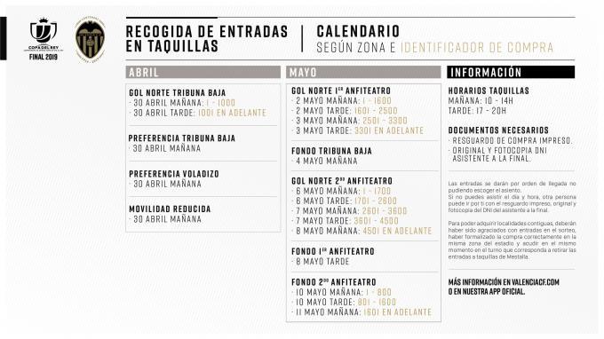 Calendario Coppa Del Re.Entradas Final Copa Del Rey Dia Y Hora Recogida Taquillas