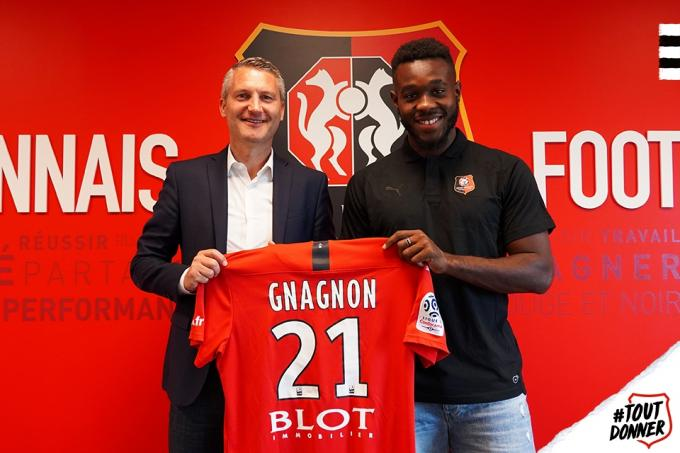 Joris Gnagnon, nuevo jugador del Rennes.