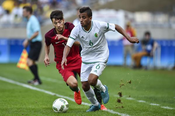 Benkhemassa, con Argelia en los Juegos de Río de Janeiro.
