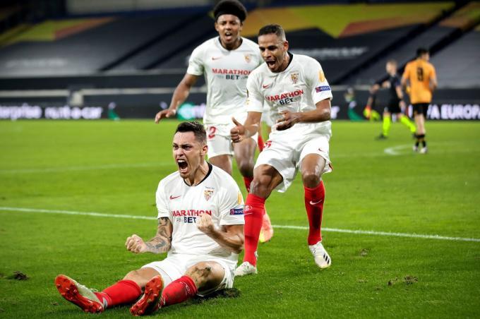 Ocampos, en el partido ante el Wolverhampton.