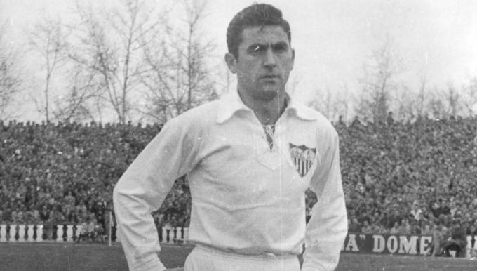 Juan Arza, en su etapa como jugador del Sevilla FC.