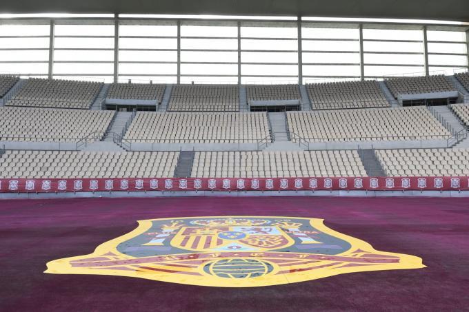 El Estadio de La Cartuja, preparado para acoger España-Alemania (Foto: Kiko Hurtado).