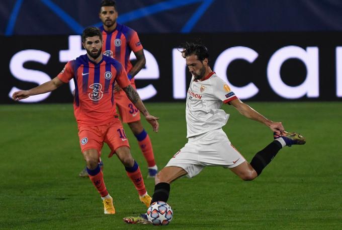 Franco Vázquez, contra el Chelsea (Foto: Kiko Hurtado).