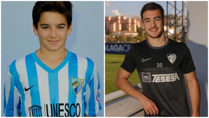 Ramón Enríquez: ayer y hoy (Fotos: Málaga CF).