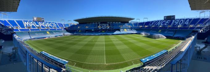 La Rosaleda, lista para acoger la semifinal de la Supercopa de España.