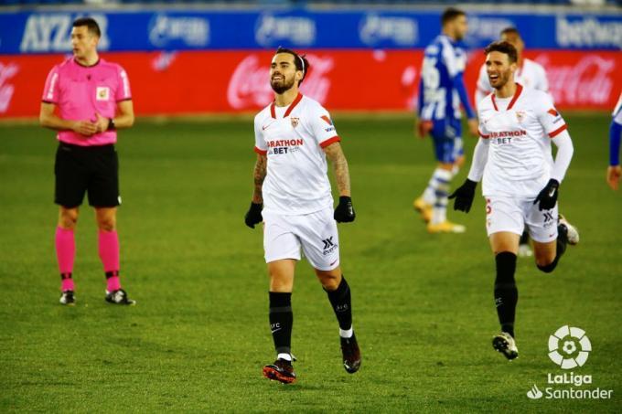Gol de Suso en el Alavés-Sevilla (Foto: LaLiga).