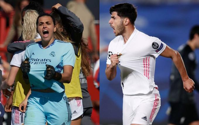 Misa Rodríguez y Marco Asensio celebran goles con el Real Madrid (Foto: @ MarcoAsensio10).