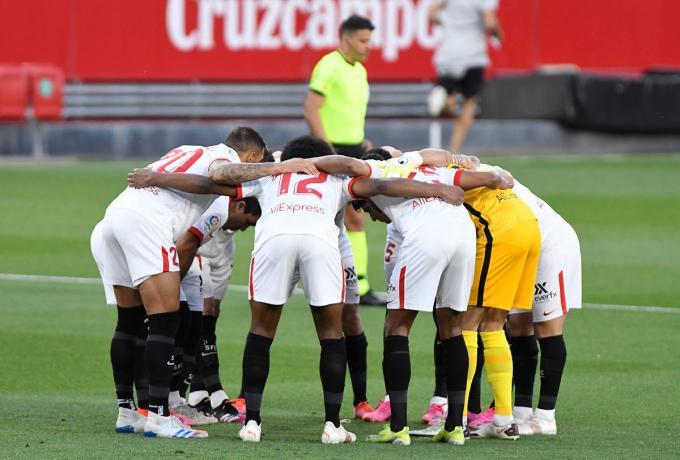 El once del Sevilla ante el Athletic (Foto: Kiko Hurtado).