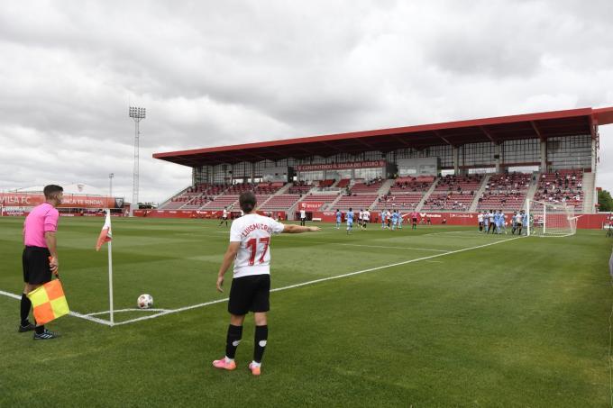 Luismi con el Sevilla Atlético (Foto: Kiko Hurtado).
