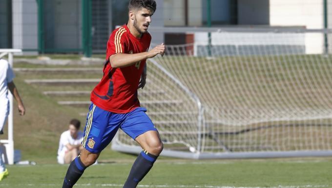 Juan Berrocal, con la selección.