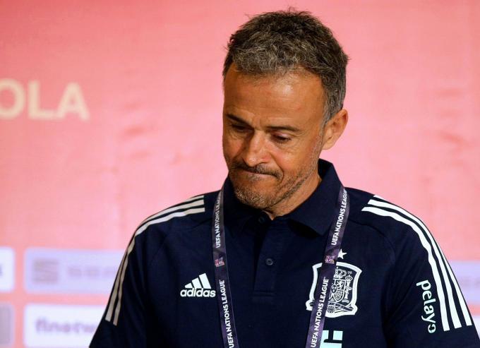 Luis Enrique, durante una rueda de prensa de la selección nacional (Foto: Cordon Press).