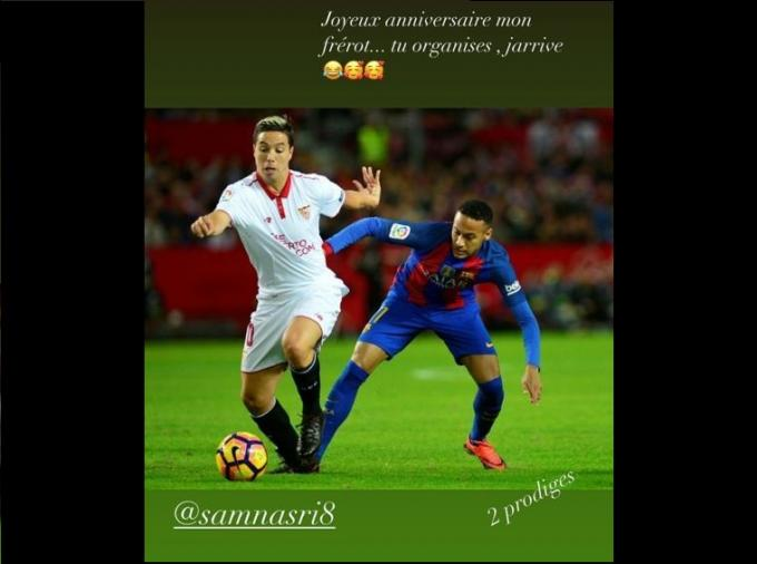 Las felicitaciones de Rami a Nasri por su cumpleaños.