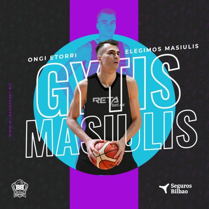 El ala-pívot lituano Gytis Masiulis, tercer fichaje de Bilbao Basket
