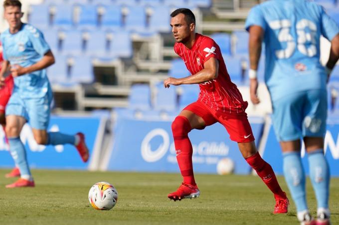 Jordán, en el Sevilla 4-0 Coventry.  (Foto: SFC).