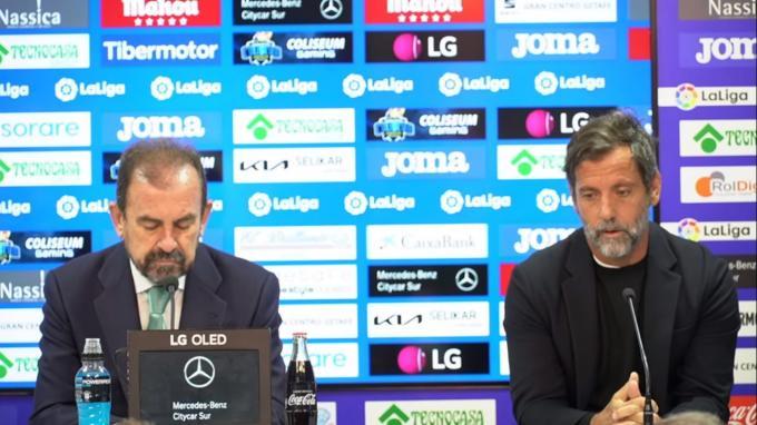 Ángel Torres presenta a Quique Sánchez Flores en el Getafe.