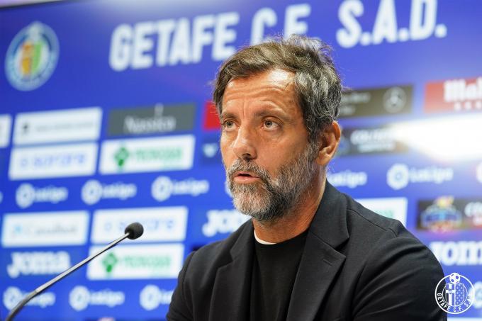 Quique Sánchez Flores, en su presentación como entrenador del Getafe (Foto: GCF).